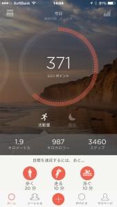 スマホアプリのほうから見た目標設定のグラフ