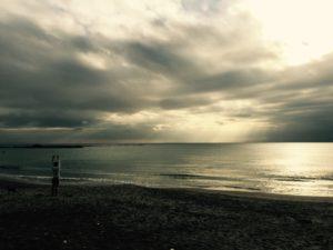 葉山の夕方の海